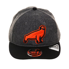 Exclusive New Era 9Fifty San Francisco Seals 38 Retro Crown Snapback Hat - 2T Flannel, Navy, Orange