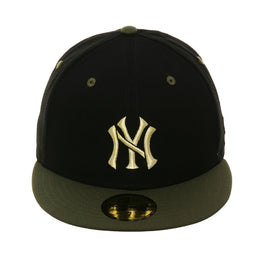 07119c843d94e Exclusive New Era 59fifty New York Yankees Stencil Hat - 2T Black
