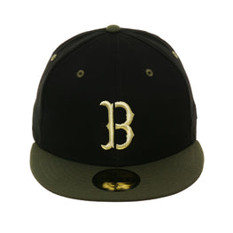 fe3ba57e00b17a Exclusive New Era 59fifty Boston Red Sox Stencil Hat - 2T Black, Olive
