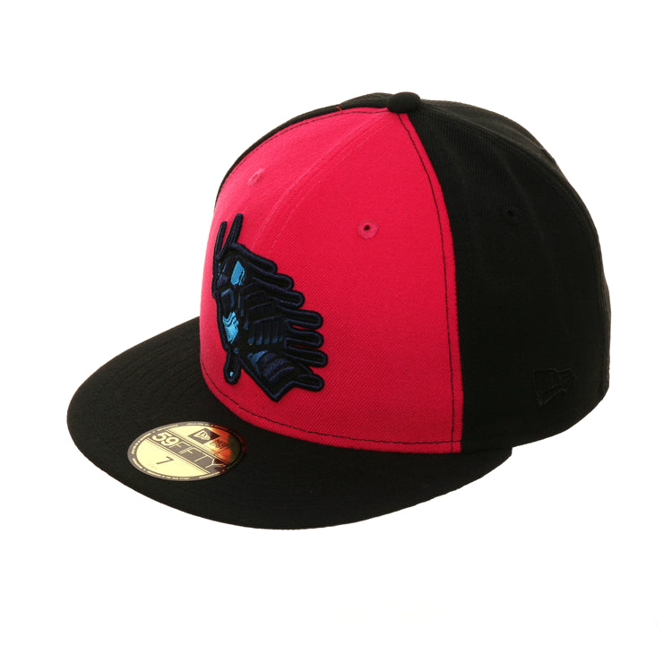 Exclusive New Era 59Fifty Ink Park Samurai Hat - Magenta, Black