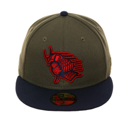 42b972b5288a57 Exclusive New Era 59Fifty Ink Park Samurai Hat - 2T Olive, Navy