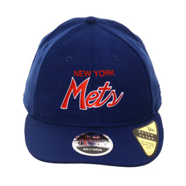 Exclusive New Era 9Fifty New York Mets Script Retro Crown Snapback Hat - Royal