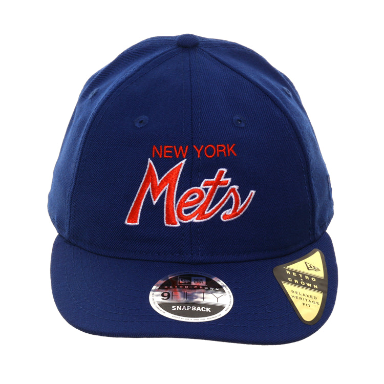 315897f3e Exclusive New Era 9Fifty New York Mets Script Retro Crown Snapback Hat -  Royal