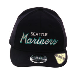 42154481f Exclusive New Era 9Fifty Seattle Mariners Script Retro Crown Snapback Hat -  Navy
