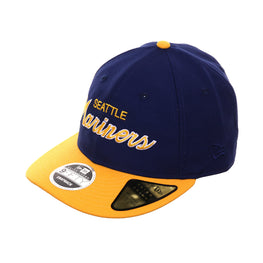 detailed look 8174a 4ea96 Exclusive New Era 9fifty Seattle Mariners Script Retro Crown Snapback Hat -  2T Royal, Gold