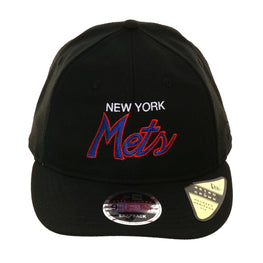 Exclusive New Era 9Fifty New York Mets Script Retro Crown Snapback Hat - Black