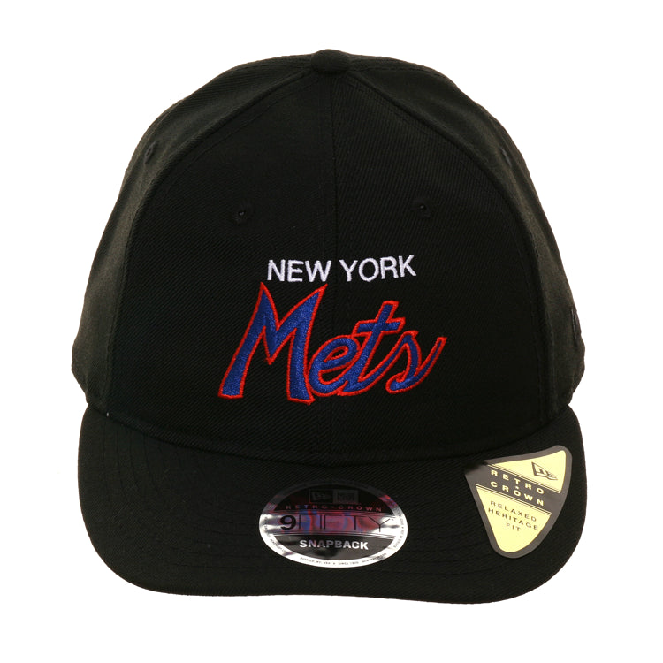 new product 21429 a0279 Exclusive New Era 9Fifty New York Mets Script Retro Crown Snapback Hat – Hat  Club