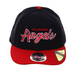 buy popular 25529 8e1b3 Exclusive New Era 9Fifty Los Angeles Angels Script Retro Crown Snapback Hat  - 2T Navy,