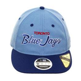 Exclusive New Era 9Fifty Toronto Blue Jays Script Retro Crown Snapback Hat - 2T Light Blue, Royal