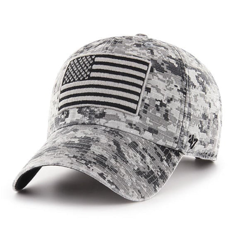 47 Brand Cleanup USA Flag OHT Adjustable Hat - Gray