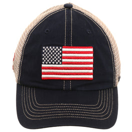47 Brand Clean Up USA Flag OHT Mesh Dad Hat - Navy
