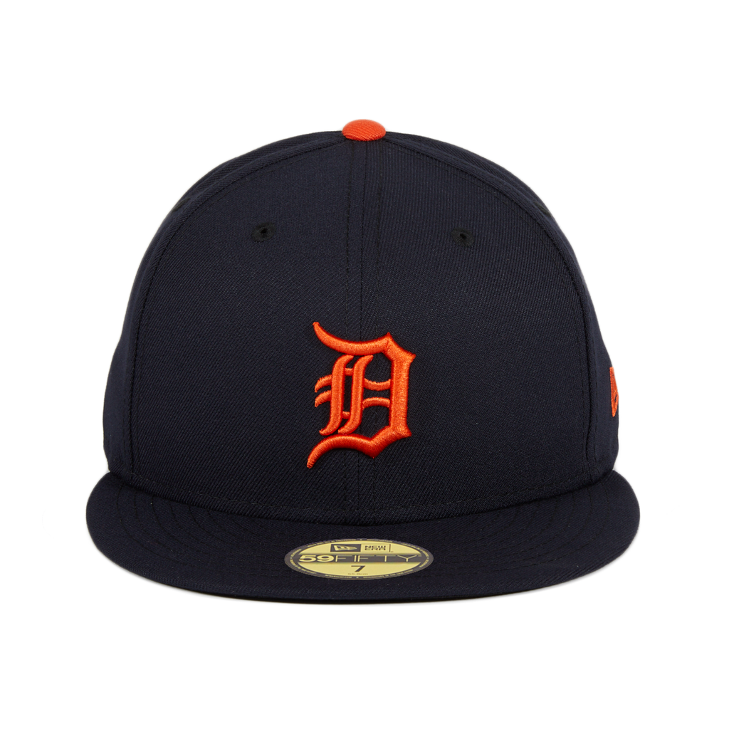 59Fifty Detroit Tigers Road Hat - Navy, Orange