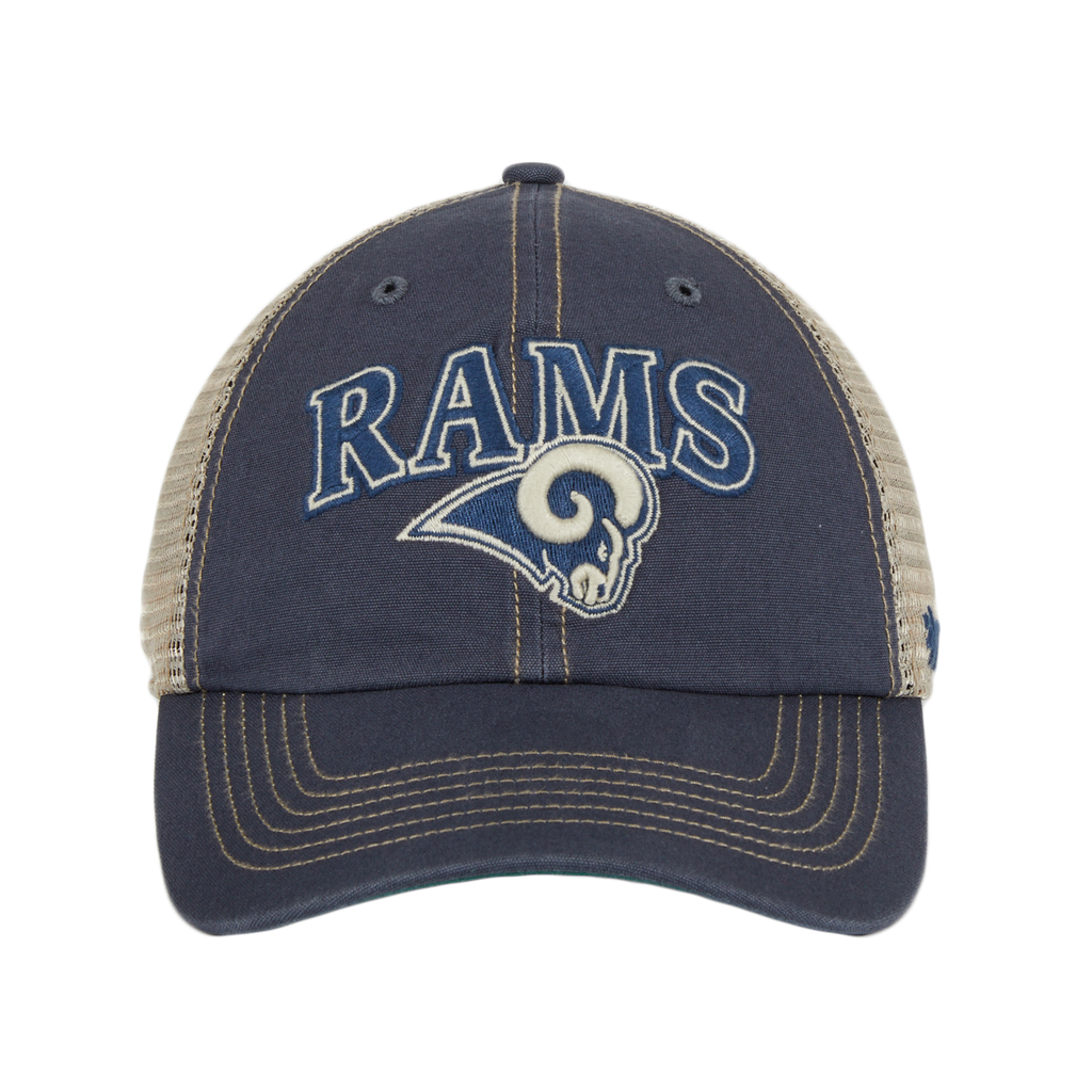 47 Brand Clean Up Los Angeles Rams Tuscaloosa Mesh Dad Hat - Light Navy