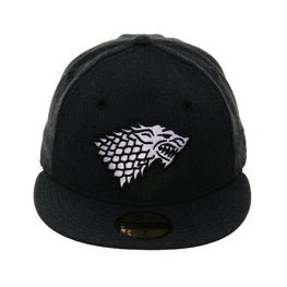 Exclusive New Era 59Fifty House Stark Hat - Black Heather