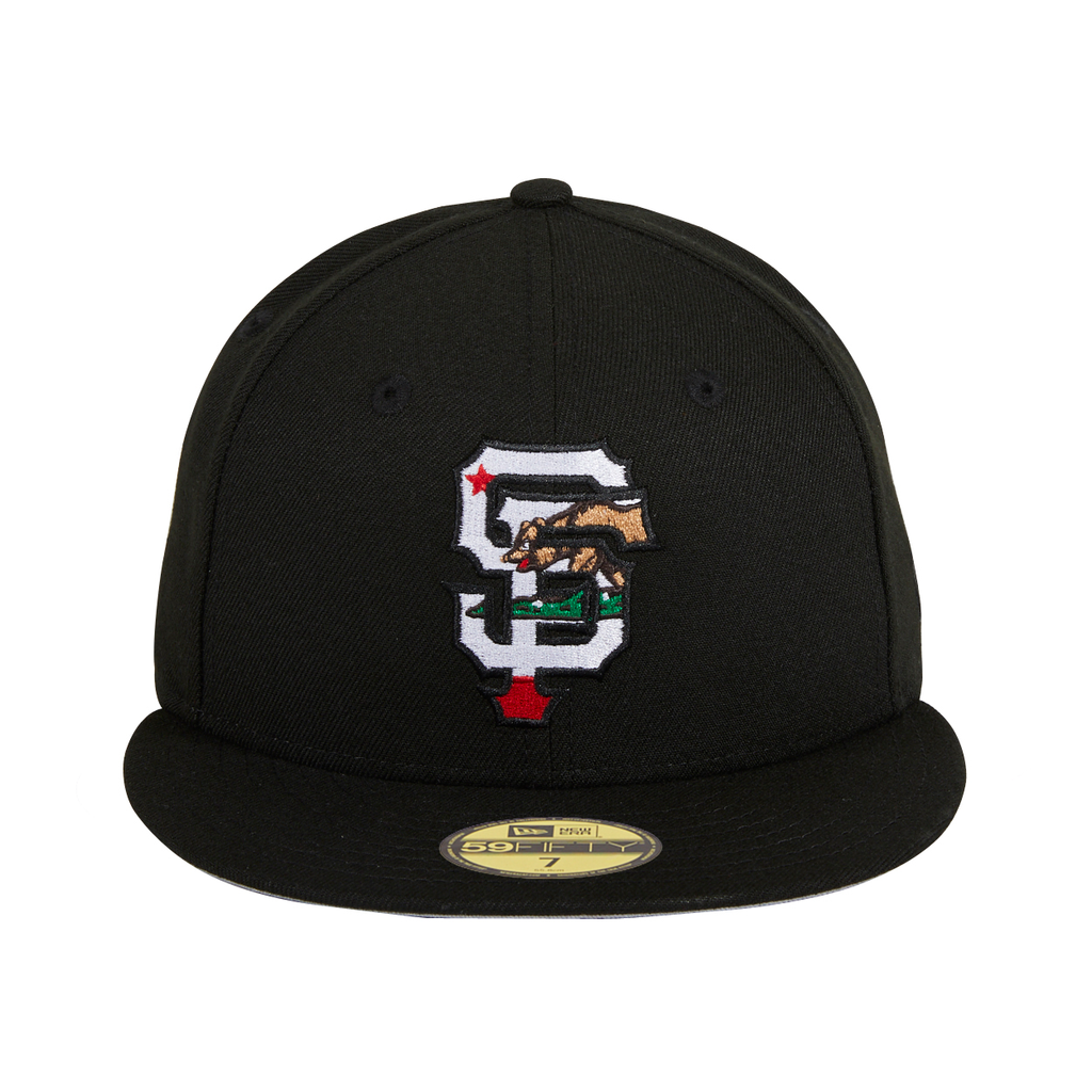 Exclusive New Era 59Fifty San Francisco Giants California Flag Fill Hat - Black