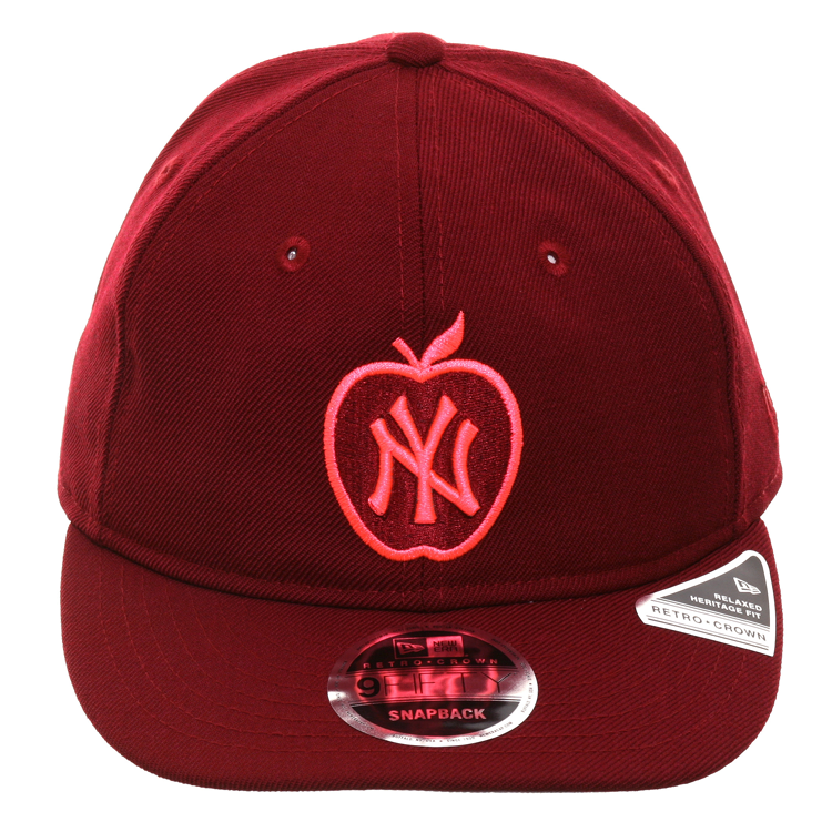 Exclusive New Era 9Fifty New York Yankees Apple Retro Crown Snapback Hat - Cardinal
