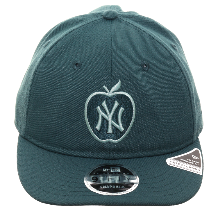 Exclusive New Era 9Fifty New York Yankees Apple Retro Crown Snapback Hat - Green, Mint