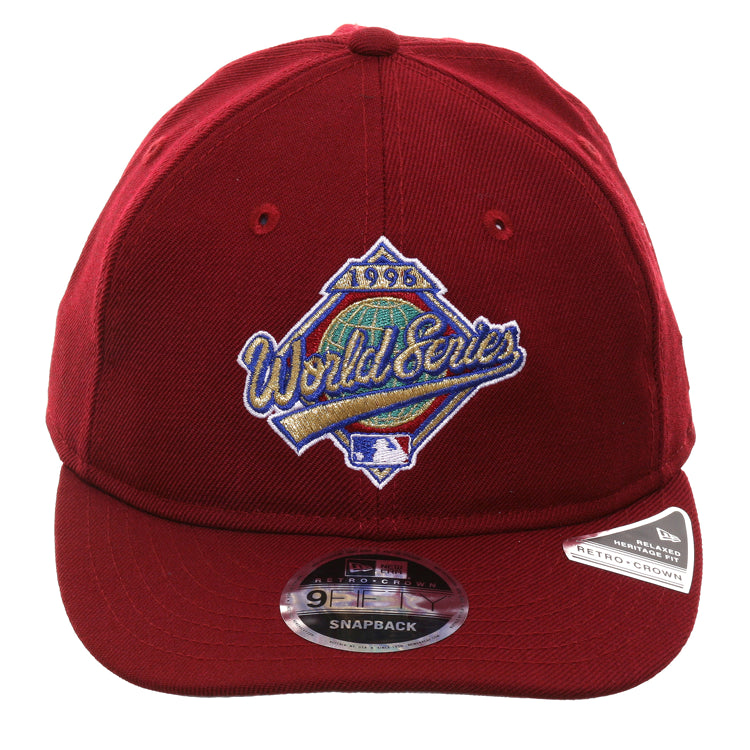 Exclusive New Era 9Fifty 1996 World Series Patch Retro Crown Snapback Hat - Cardinal