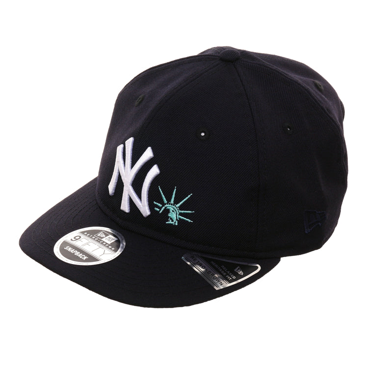 Exclusive New Era 9Fifty New York Yankees Liberty Retro Crown Snapback Hat - Navy