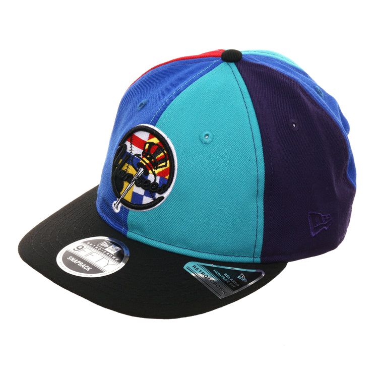 Exclusive New Era 9Fifty New York Yankees Retro Crown Snapback Hat - Multi Color