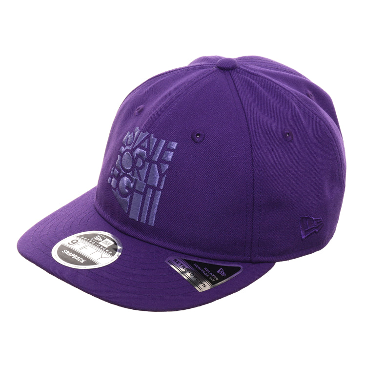 Exclusive New Era 9Fifty State Forty Eight Retro Crown Snapback Hat - Purple