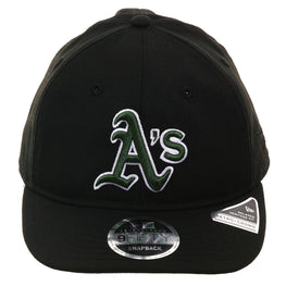 Exclusive New Era 9Fifty Oakland Athletics Retro Crown Snapback Hat - Black, Green, White