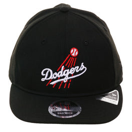 Exclusive New Era 9Fifty Los Angeles Dodgers 1958 Retro Crown Snapback Hat - Black