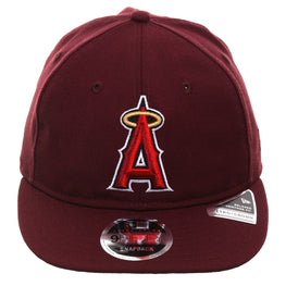 size 40 58246 4f01b Exclusive New Era 9Fifty Los Angeles Angels Retro Crown Snapback Hat -  Maroon