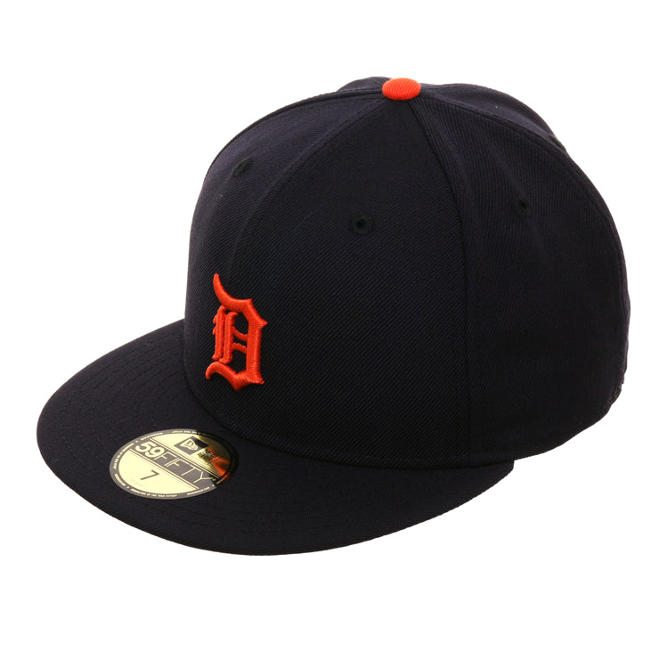 Exclusive New Era 59Fifty Detroit Tigers w/ Gray Undervisor Road Hat - Navy