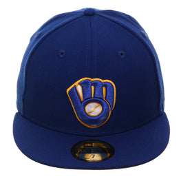 Exclusive New Era 59Fifty Milwaukee Brewers Alternate Hat - Royal