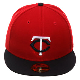 Exclusive New Era 59Fifty Minnesota Twins Hat - 2T Red, Navy