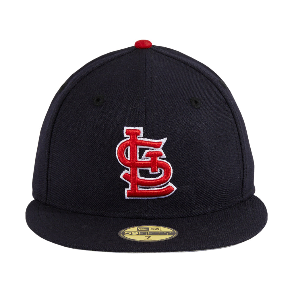 Exclusive New Era 59Fifty Retro On-Field St. Louis Cardinals w/ Gray Undervisor Alternate Hat - Navy