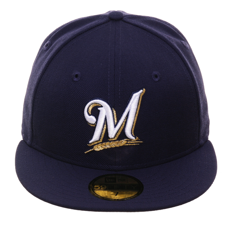 best loved preview of elegant shoes Exclusive New Era 59Fifty Milwaukee Brewers Game Hat - Navy – Hat Club