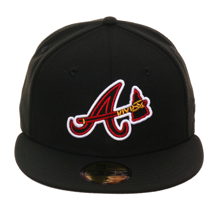sports shoes 99526 98ae2 Exclusive 59Fifty Atlanta Braves Neon Hat - Black – Hat Club