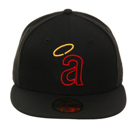 e377a3f8 Exclusive 59Fifty Los Angeles Angels 1972 Logo Neon Hat - Black