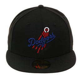 Exclusive 59Fifty Los Angeles Dodgers Logo Neon Hat - Black