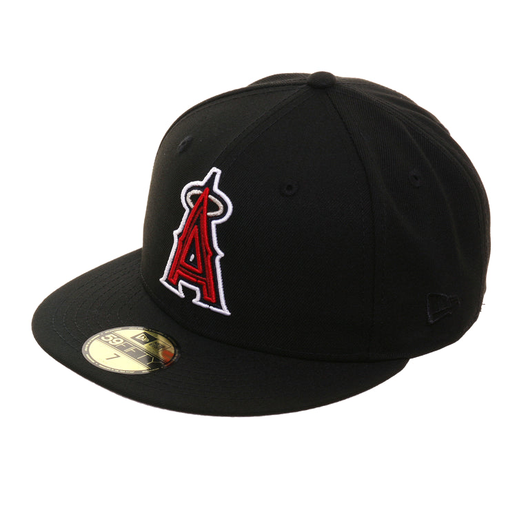 Exclusive 59Fifty Los Angeles Angels Neon Hat - Black