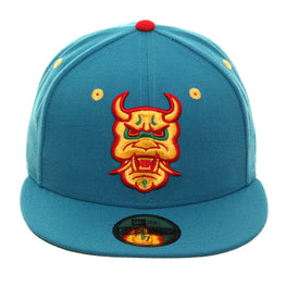 best sneakers 4d57b 9d362 Exclusive Dionic New Era 59Fifty Oni Mask Hat - Teal