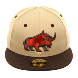 Exclusive New Era 59Fifty Thrill SF Geneva Bulls Fitted Hat - 2T Stone, Brown