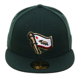 online retailer 93917 8fb3b Exclusive New Era 59Fifty California Flag Bat Hat - Green