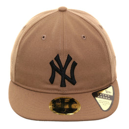Exclusive New Era 59Fifty New York Yankees Retro Crown Hat - Khaki, Black