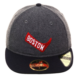 Exclusive New Era 59Fifty Boston Red Sox 1904 Retro Crown Hat - 2T Flannel, Navy