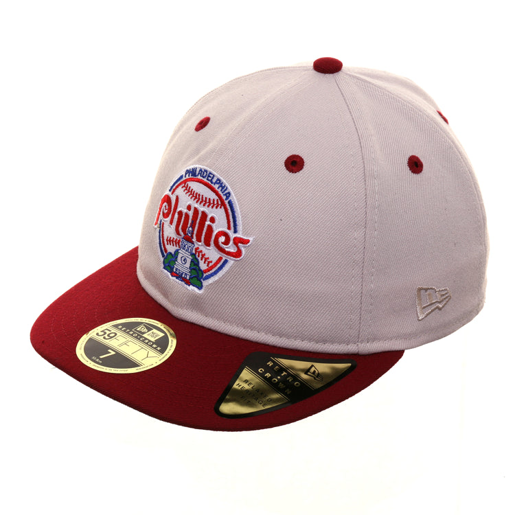 Exclusive New Era 59Fifty Philadelphia Phillies 1984 Retro Crown Hat - 2T Stone, Cardinal