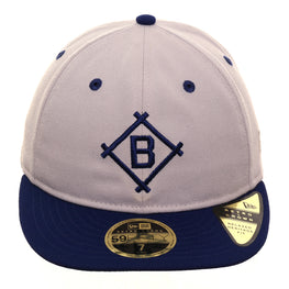 Exclusive New Era 59Fifty Brooklyn Dodgers 1912 Retro Crown Hat - 2T Stone, Royal