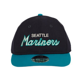 Exclusive 9fifty Retro Crown Seattle Mariners Script Snapback Hat - 2T Navy, Teal