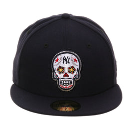 Exclusive New Era 59Fifty New York Yankees Sugar Skull Hat - Navy