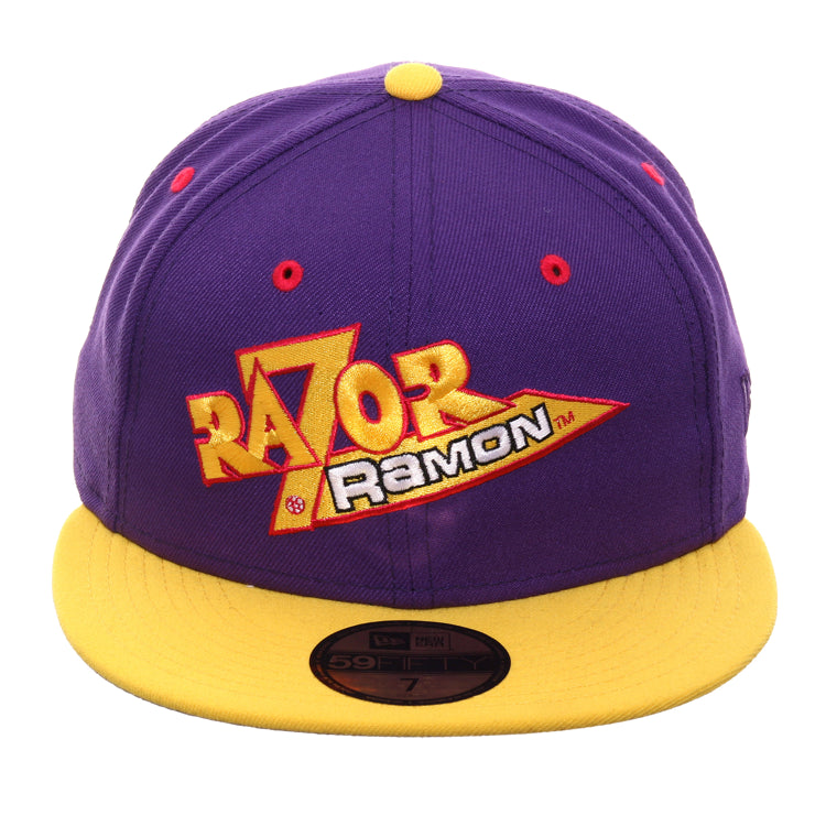 WWE New Era 59Fifty Razor Ramon Hat - 2T Purple, Yellow