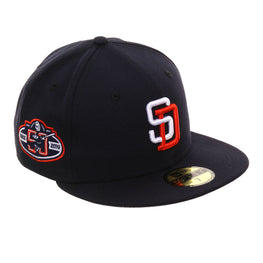 size 40 4de86 83a64 Exclusive New Era 59Fifty San Diego Padres 50th 1992 Logo Hat - Navy, White,