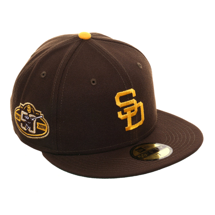 promo code 62291 ccfb9 Exclusive New Era 59Fifty San Diego Padres 50th 1969 Logo Hat - Brown, – Hat  Club