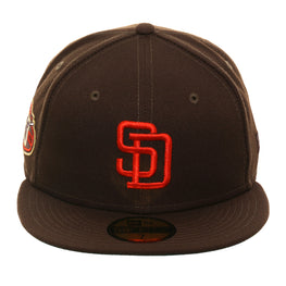 on sale d6bfb 78669 Exclusive New Era 59Fifty San Diego Padres 50th 1985 Logo Hat - Brown,  Orange